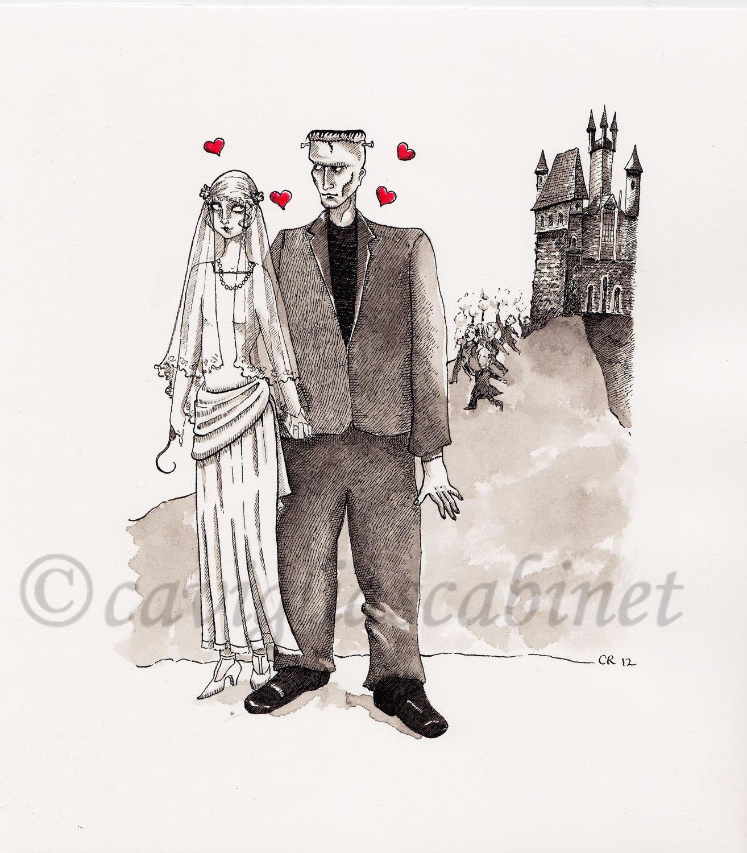 Frankenstein Romance - giclee print