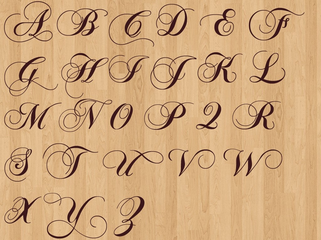 Wedding day fancy calligraphy font dance floor