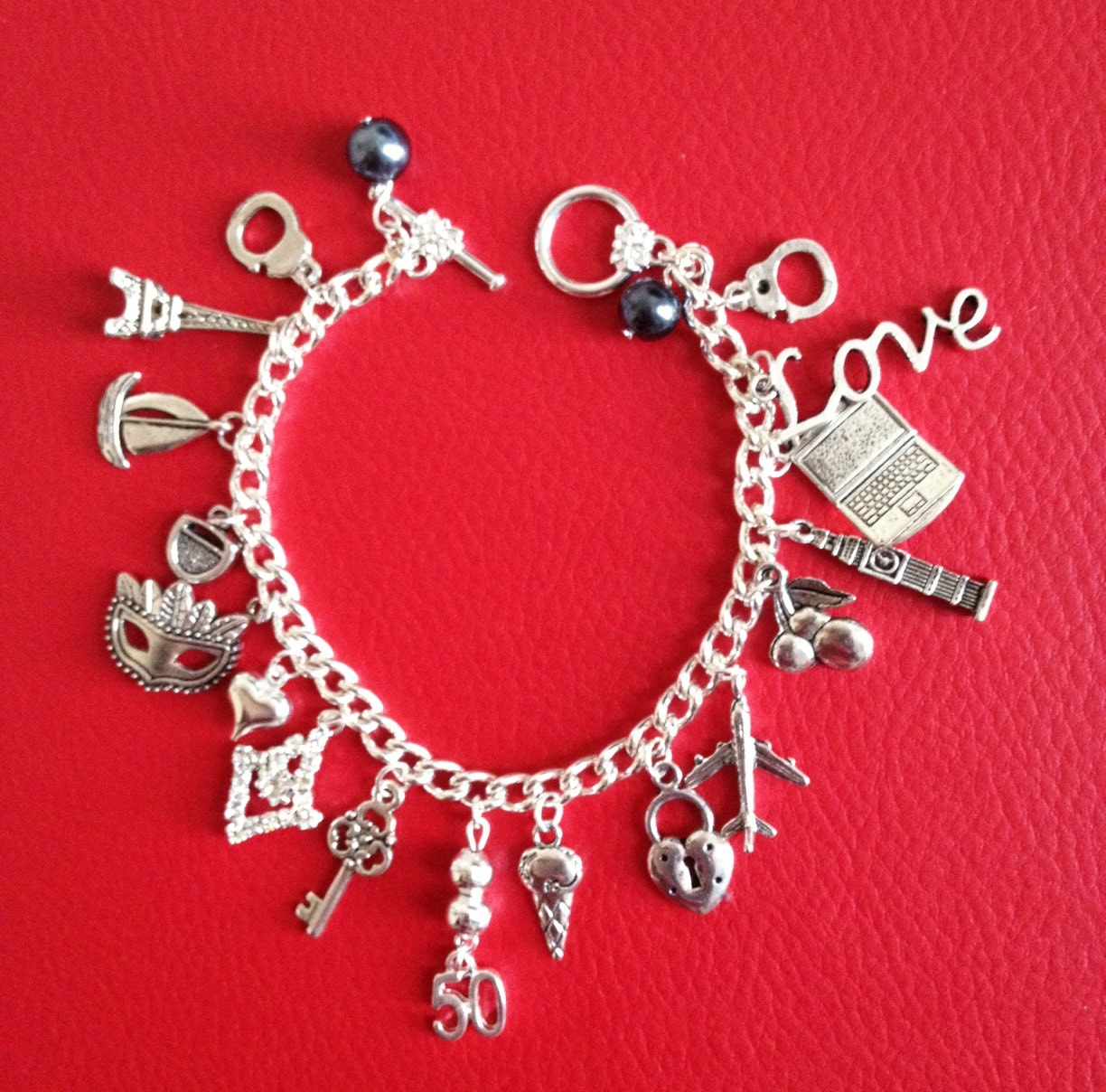 50, Fifty Shades Of Grey Pulseras Beads Inspirados clave Máscara