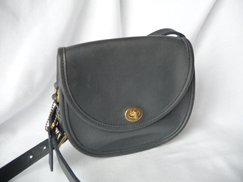SALE 25% Vintage COACH Watson Handbag in Navy Blue Leather