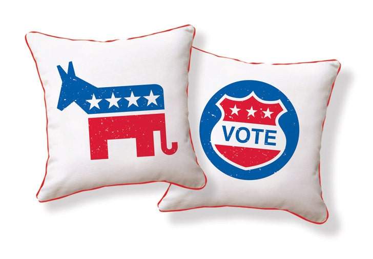 VOTE for Democrat/ Republican US Presidential Election Pillow/Cushion