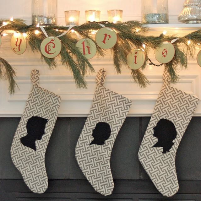 Custom Silhouette Christmas Stocking- Order by December 10th for Christmas Delivery