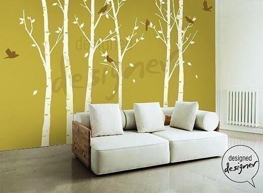 Scroll tree wall decal