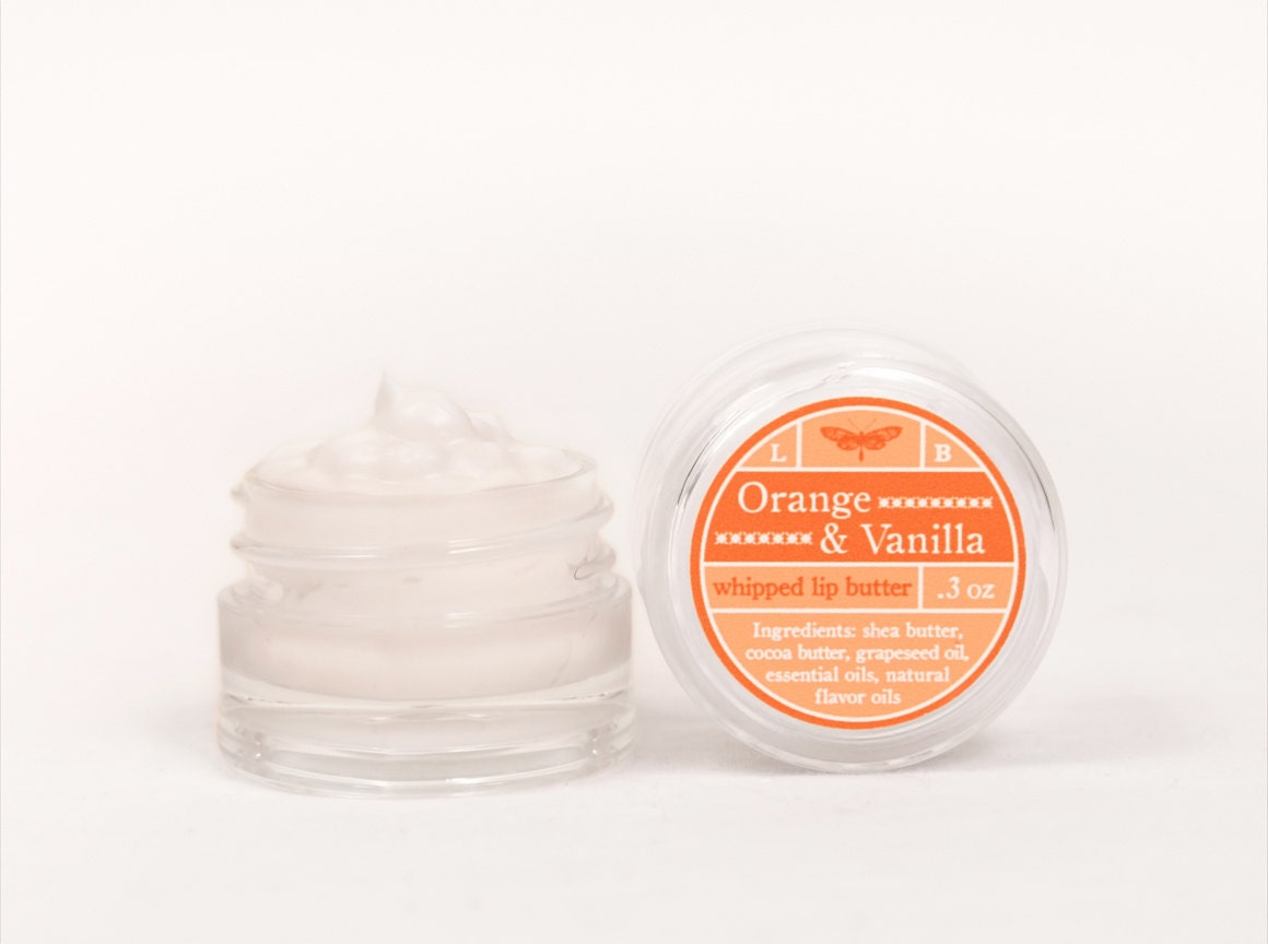 Whipped Lip Butter - Orange & Vanilla - Natural Icing for Your Lips