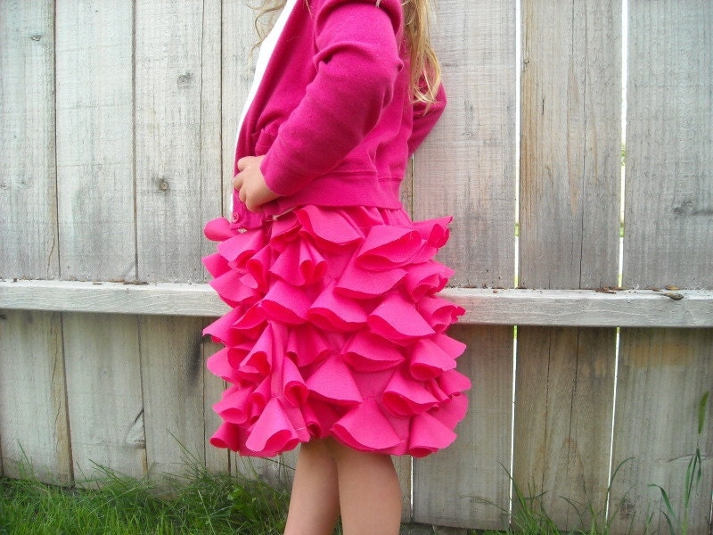 Pink Petal Skirt Size 4T to 6T