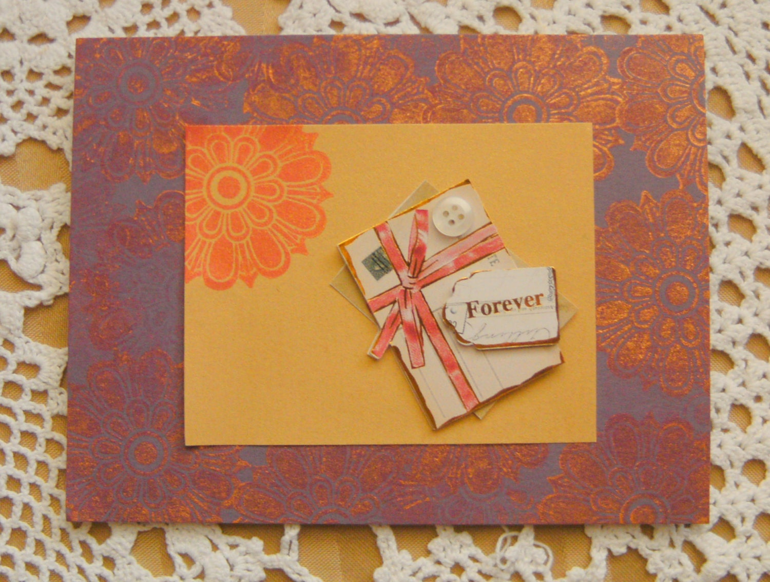 Forever Love Vintage Style Handmade Card - creativedesigns