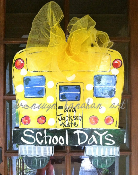 School Days Door Hanger - Bronwyn Hanahan Original