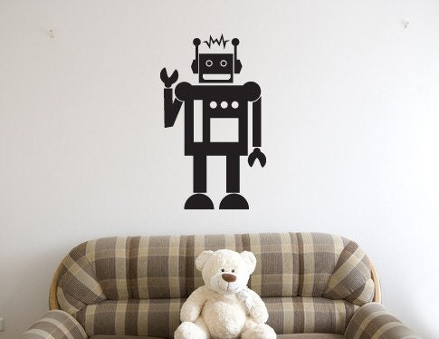 Vintage Robot wall decal sticker - vinyl decal