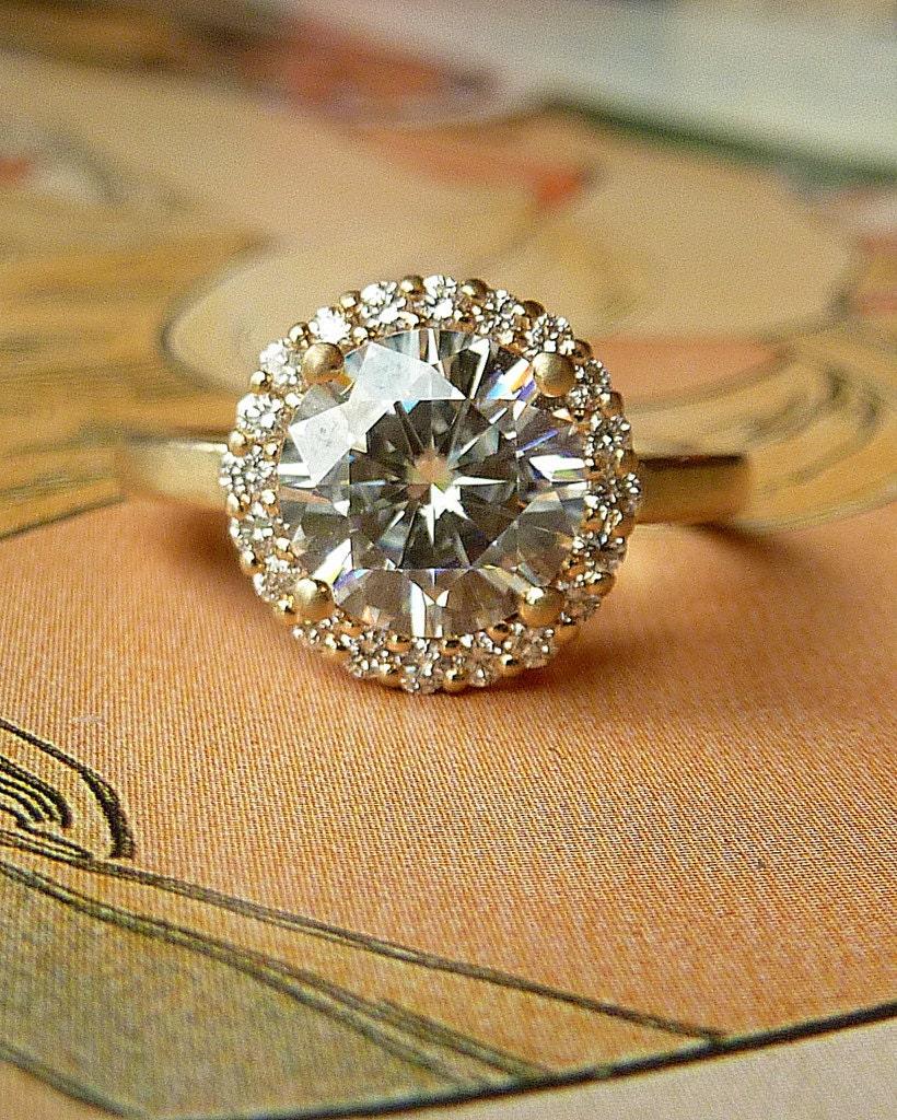 moissanite engagement ring, kate szabone engagement ring