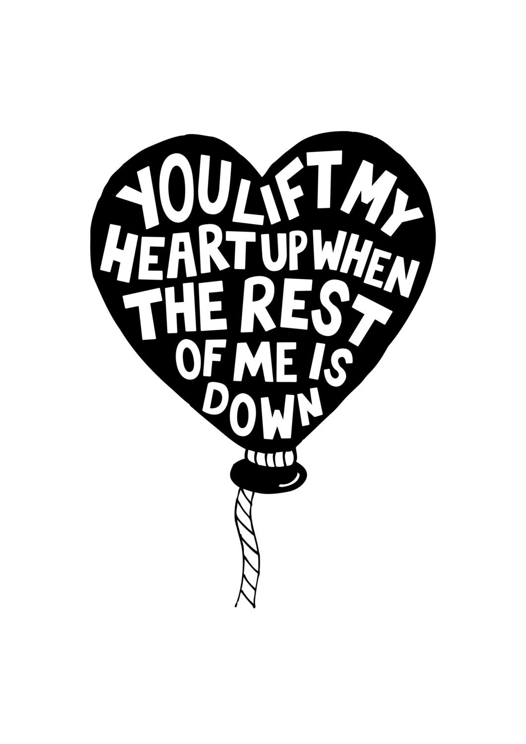 Heartbeats Challenge Print - You Lift My Heart Up - love print, music quotes, hand drawn typography.. - whatwheelermakes