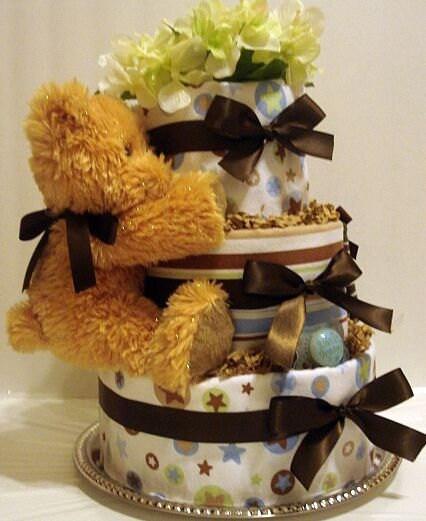 Sweet Dreams Baby Diaper Cake