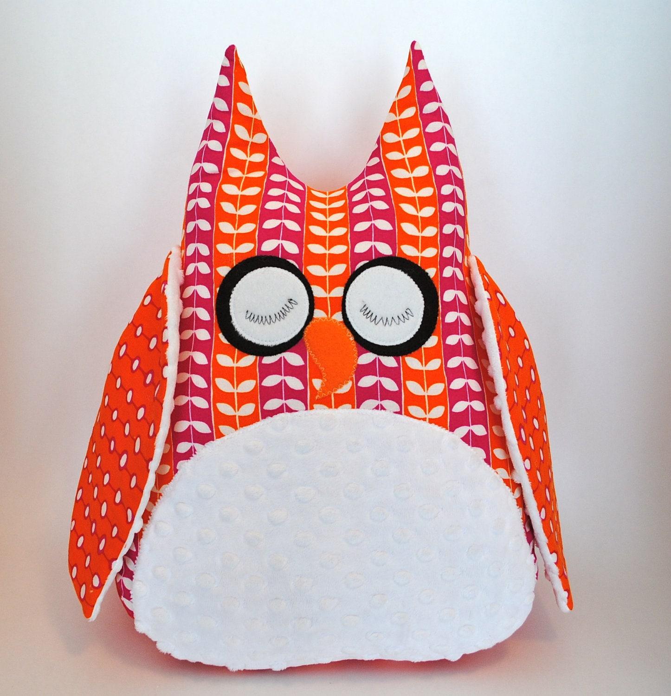 Large Owl Decorative Pillow - CuddleWumkins