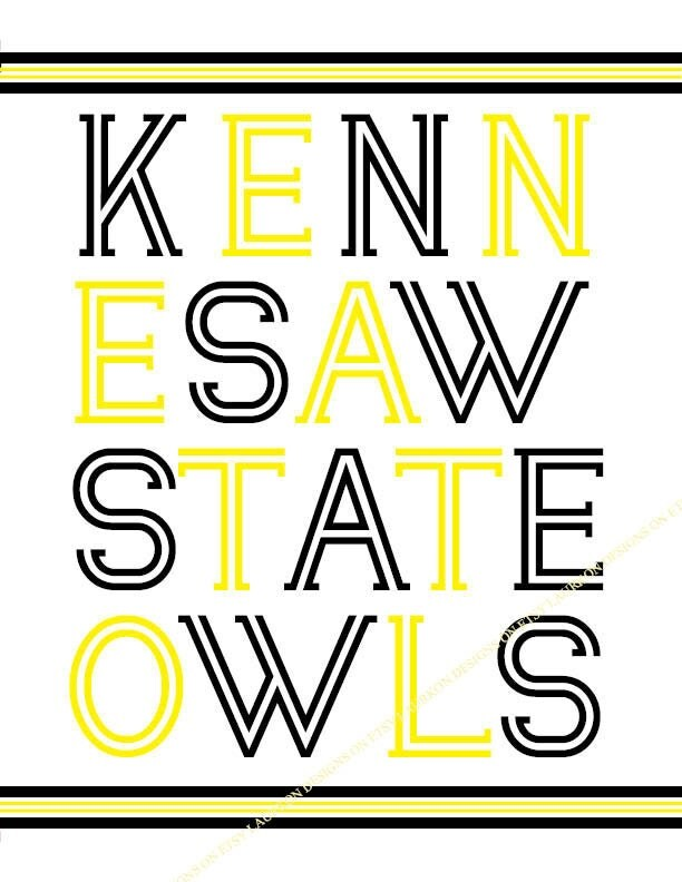 Kennesaw State Owls. print. 8.5 x 11