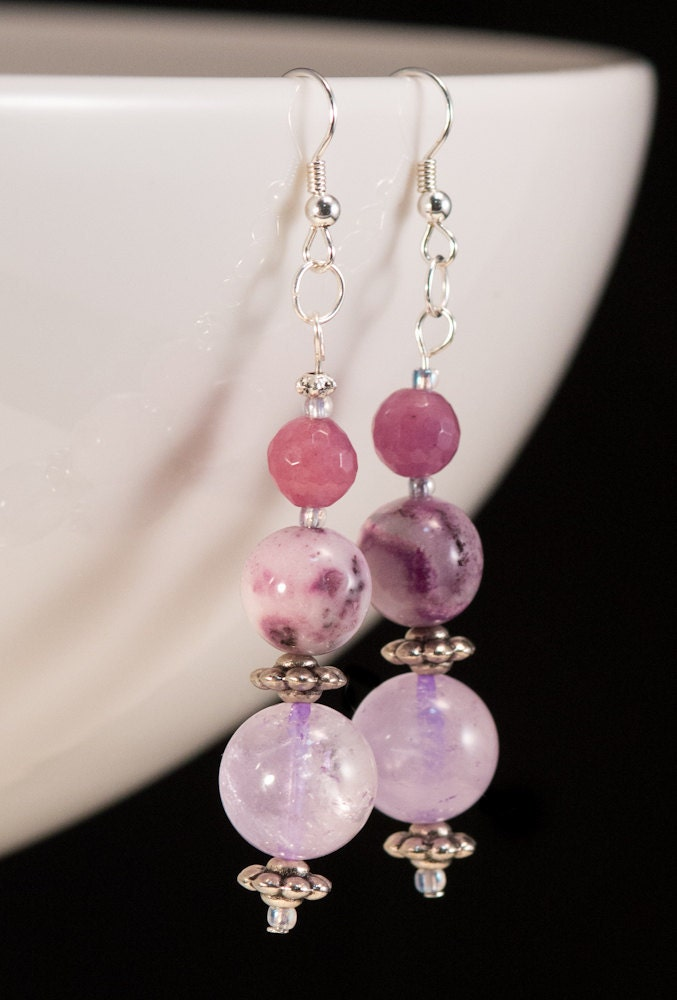 amethyst earrings - SilviaLaViola