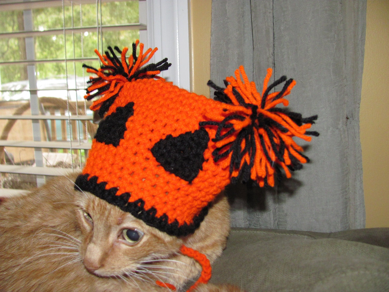 Halloween knit hat