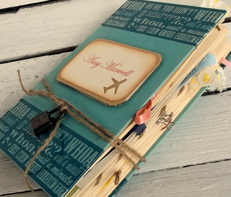 scrapbook journal,personalized junk journal smash book gift for her, gift for him - 0namesleft