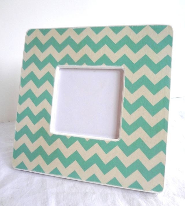 Turquoise Chevron Picture Frame