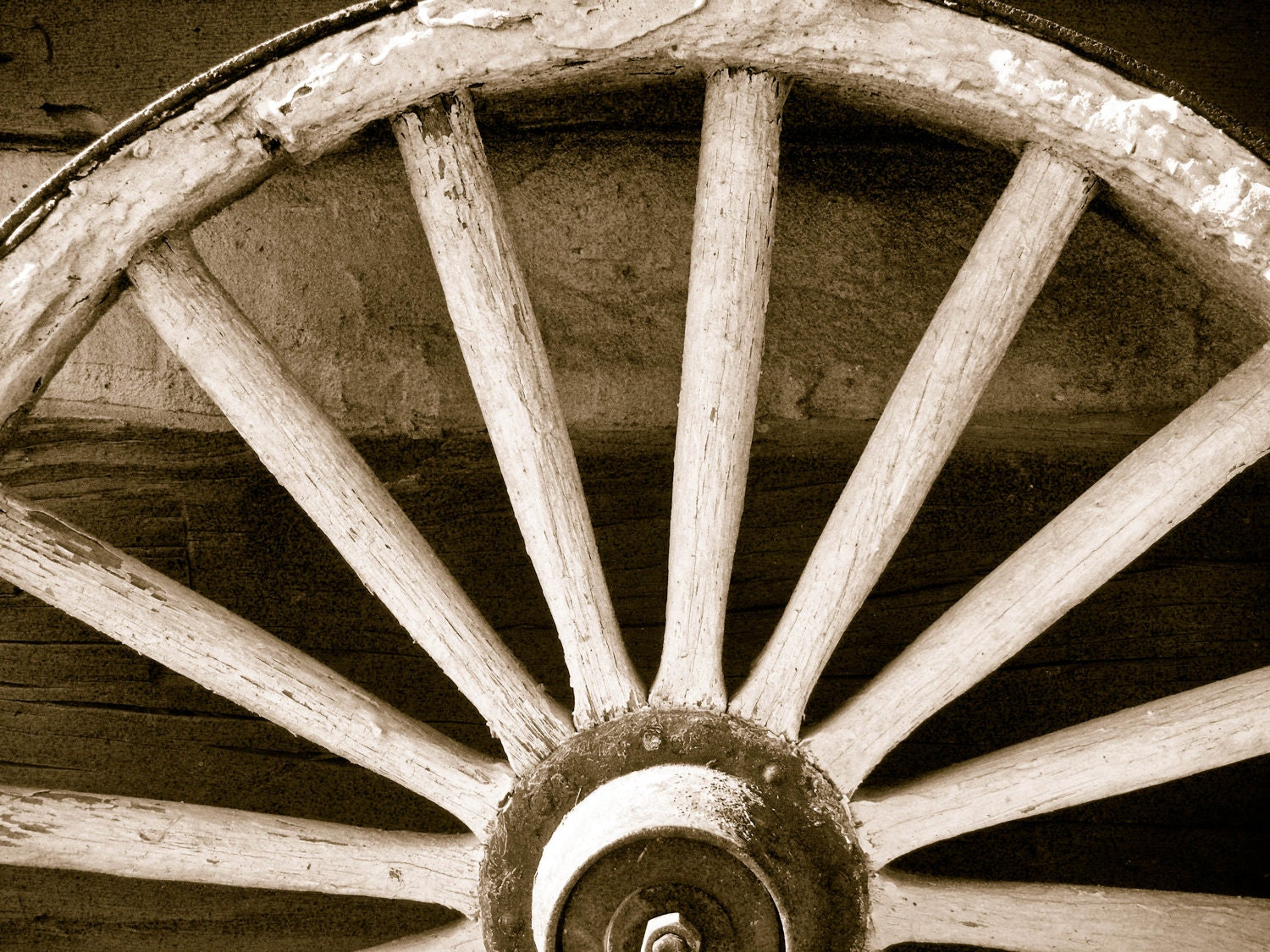 Rustic Wagon Wheel Photograph -  8 x 10 inch - TheHeartWithin