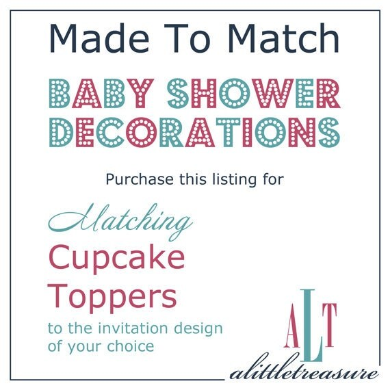 Cupcake Toppers - Baby Shower Decorations - DIY Printable
