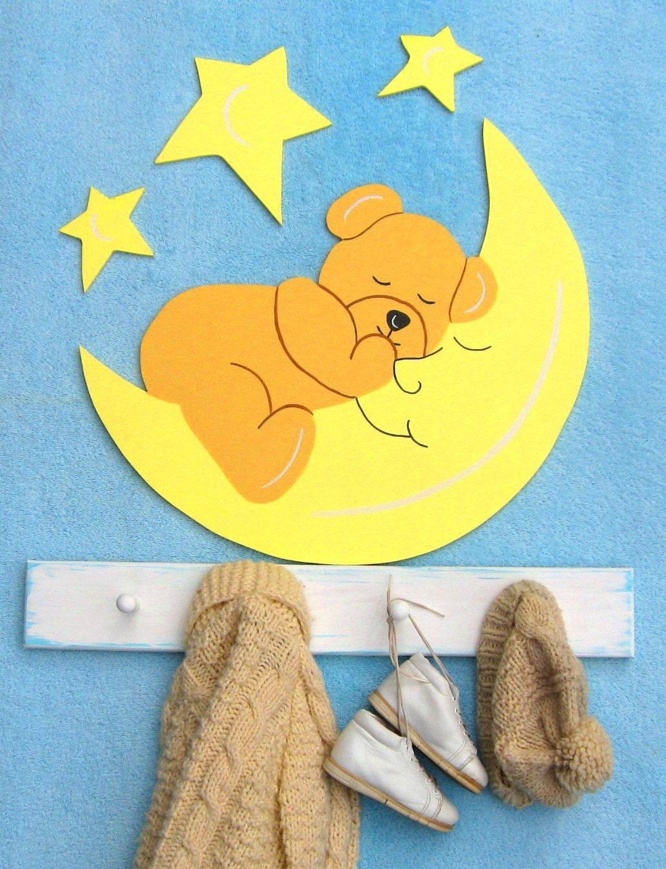 Дерево Одежда Стойка Пальто Teddy Bear Луны АРТ Storytime