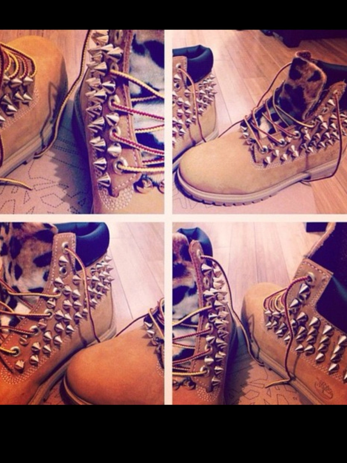 Customized Timberlands With Spikes Custom Made Spiked Timberland