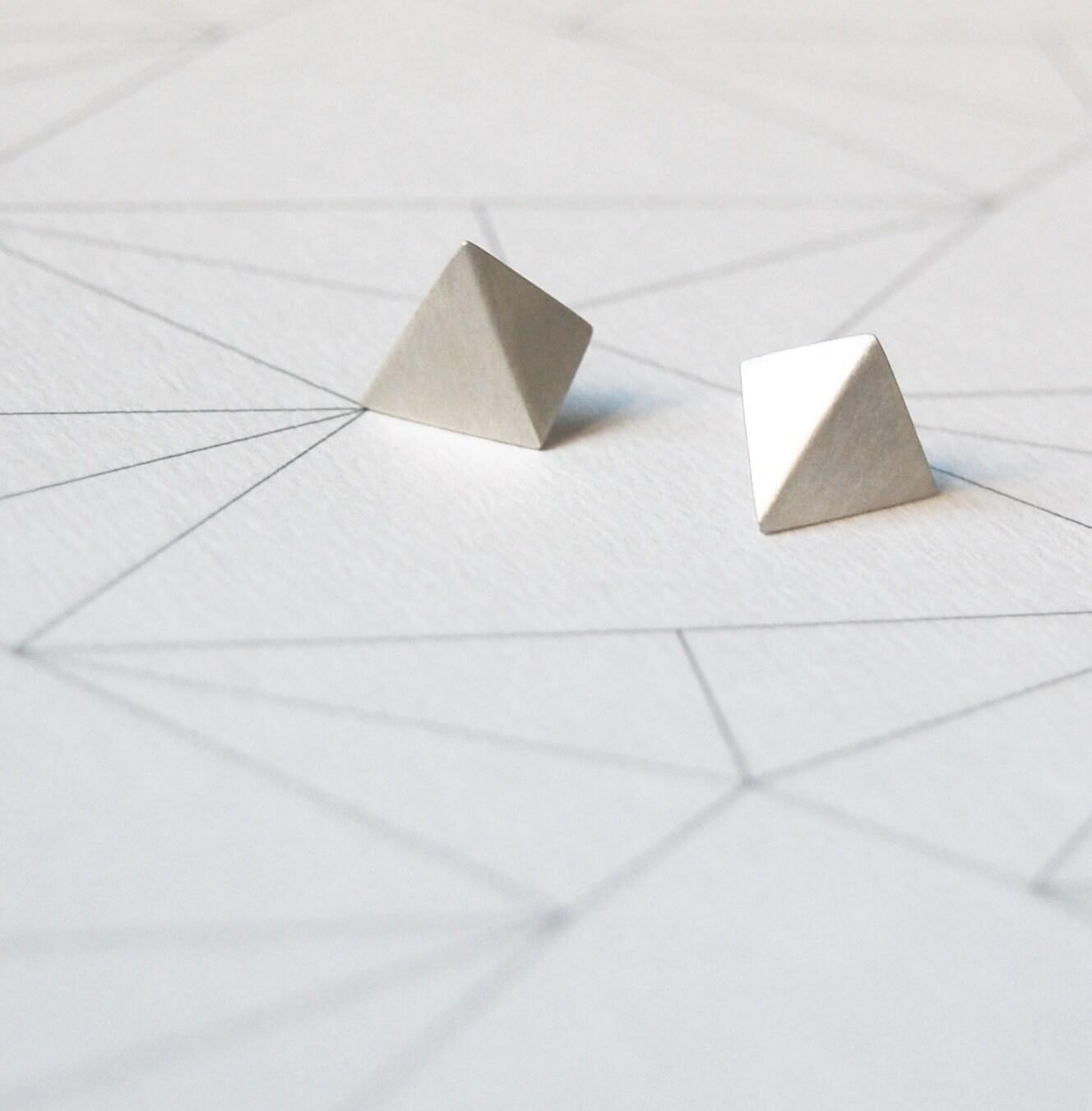 """Sterling silver geometrics earrings """"Les géométriques"""" Nro 4 - AgJc"""