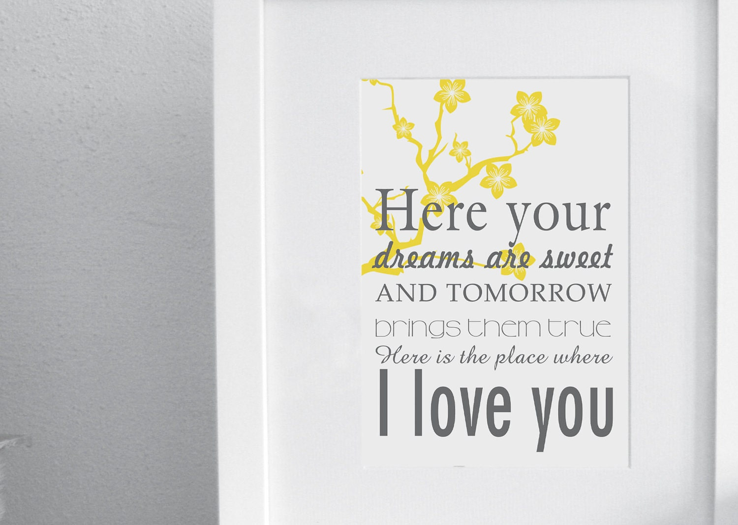 I love you print - Rue's lullaby - The Hunger Games