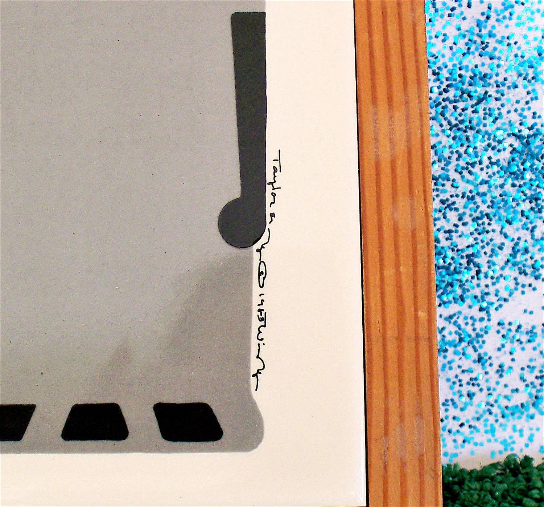 Mod  Vintage Kitsch Taylor & Ng Elephant Ceramic Tile Trivet