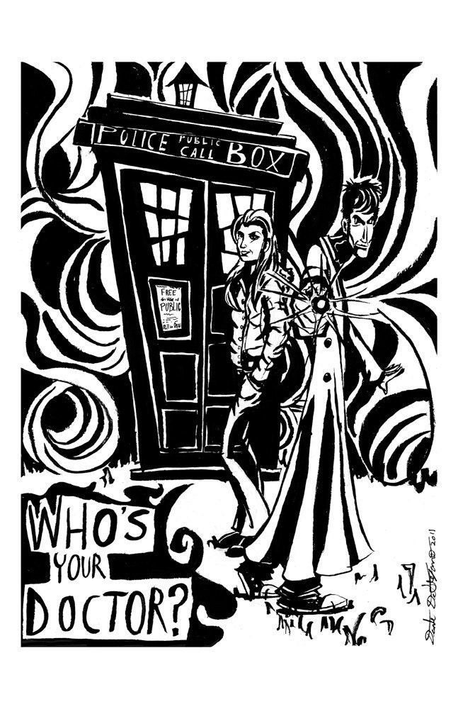 Dr. Who limited edition print