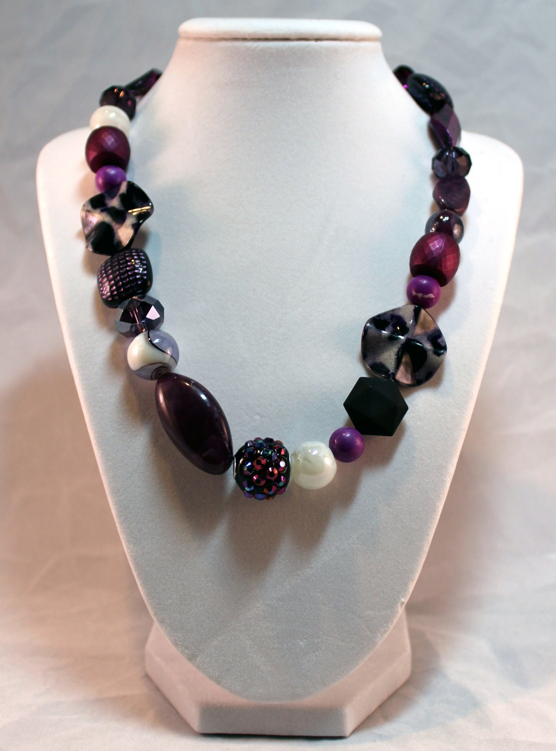 Mauve & Voilet Mixed beads Necklace