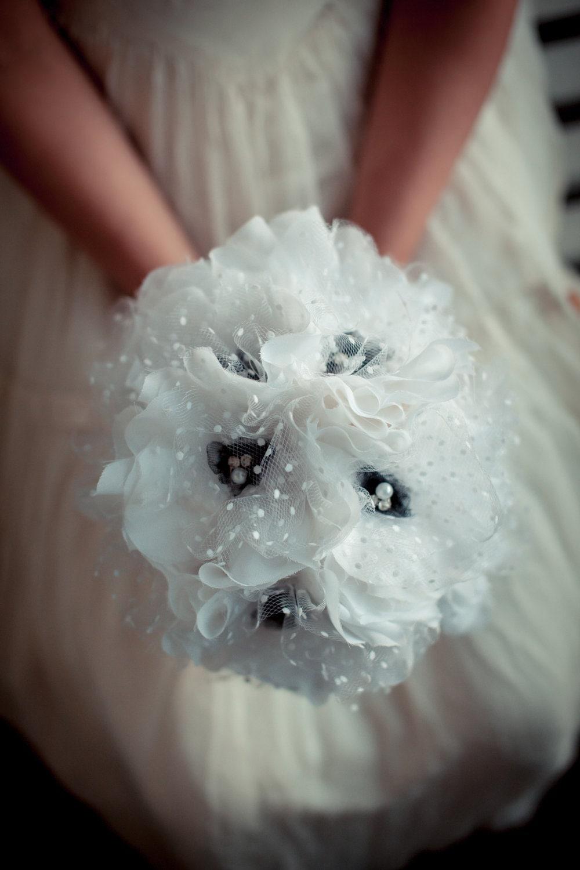 Черные и Белые Ткани Букет, Винтаж свадьба, Свадьба, свадебный Букет, свадебный Аксессуар
