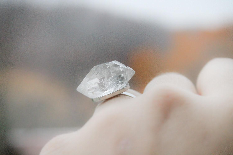 Herkimer Diamond  Adjustable Ring - Inner Vision Ring
