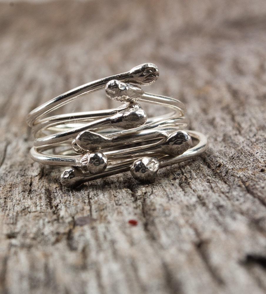 Sterling Silver Stacking Rings - UrbanJule