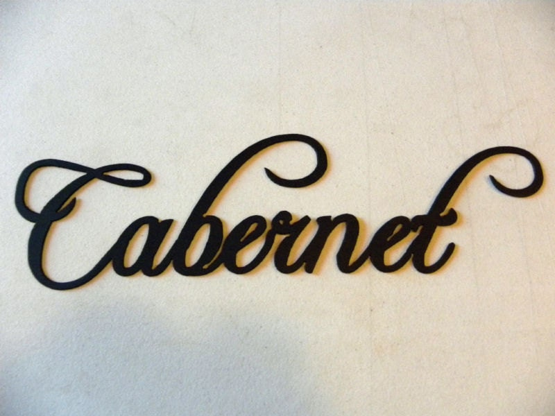 Cabernet Wine Word Home Kitchen Decor Metal by sayitallonthewall