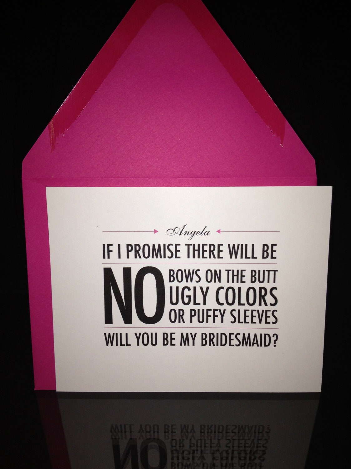 Personalized Will you be my Bridesmaid Cards (Bride's Promise) - Set of 5