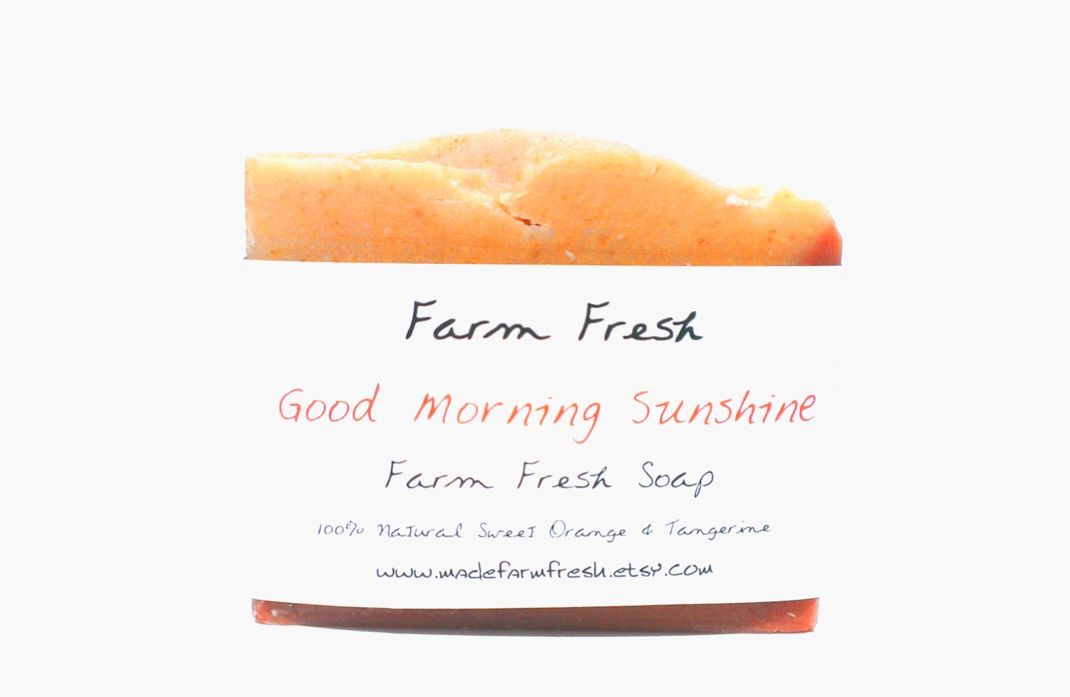 Good Morning Sunshine 100% Natural Handmade Soap Sweet Orange Tangerine Shea Butter Raw Honey Organic Oatmeal - MadeFarmFresh