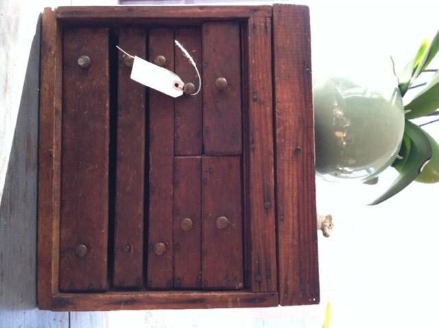 Antique Vintage Handmade Drawer  Cabinet