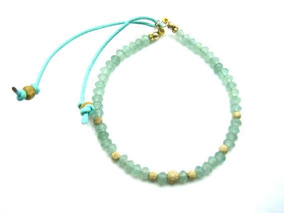 Light Green Aventurine Bracelet Style No LGASB616 - zahavblue