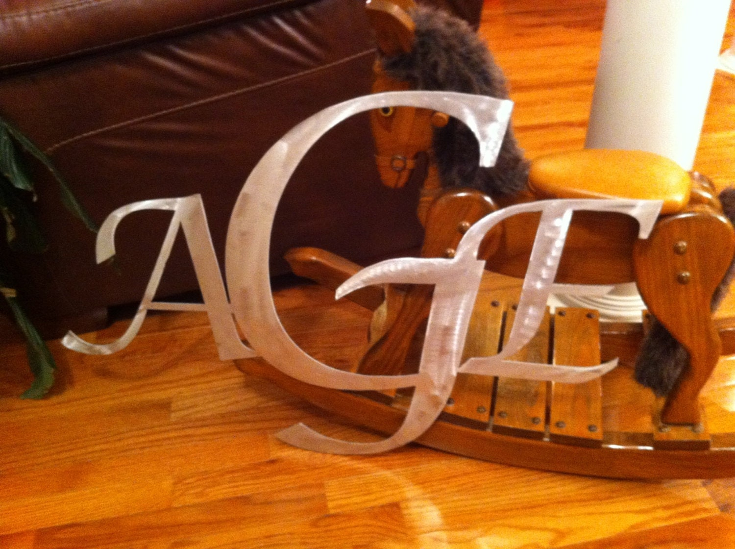 Custom Initials for wreaths wall decor nursery by EverthingMetal