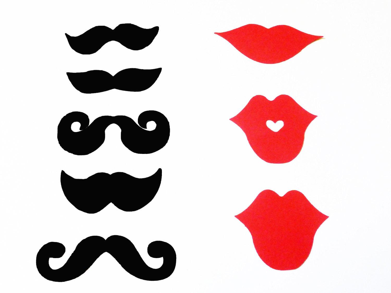 Mustache & Lips Photobooth Props | Photo prop ideas! | Pinterest