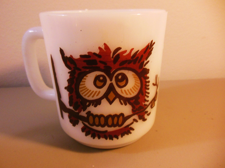 Vintage Cute Owl Mug by Glasbake - myglassandcupshop