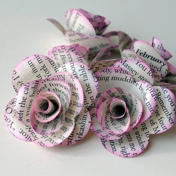6 ручной бумажные розы из других целях страниц книги