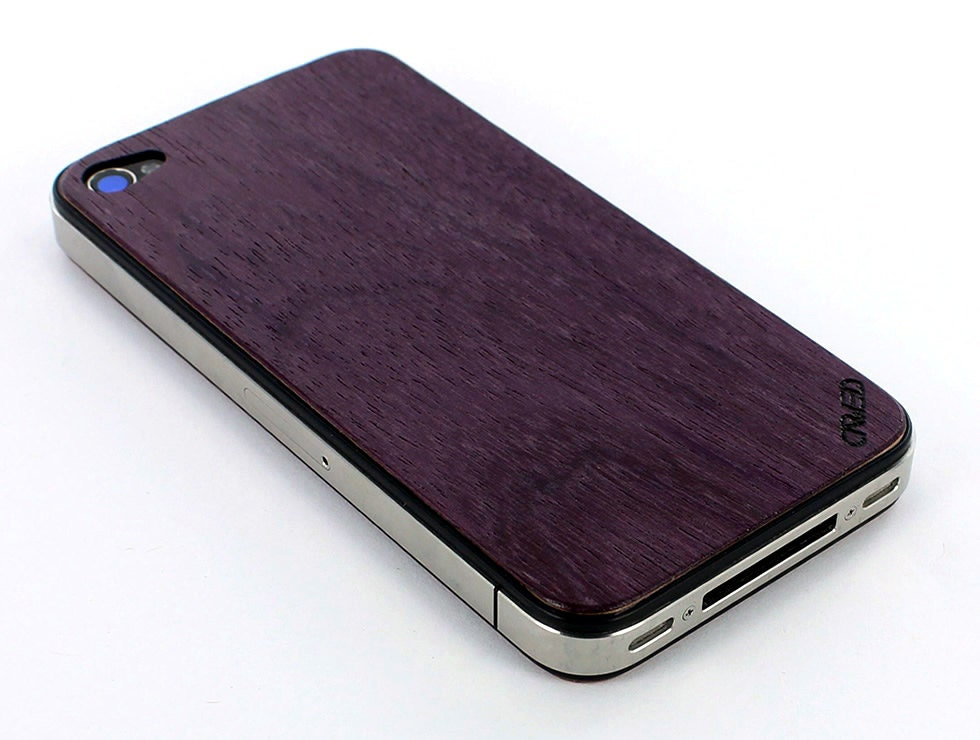 Purpleheart iPhone 4/4S Real Wood Skin (Front & Back Cover) Made in the USA - FREE Shipping