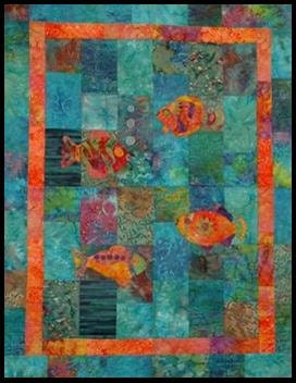 Quilt How to: Fish Quilt Block, Free Motion Machine Quilting