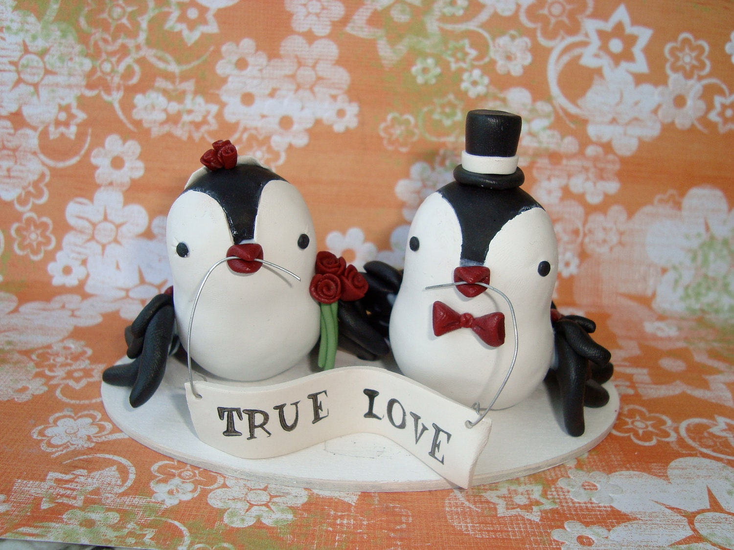 Custom Made Birds Weding Cake Topper