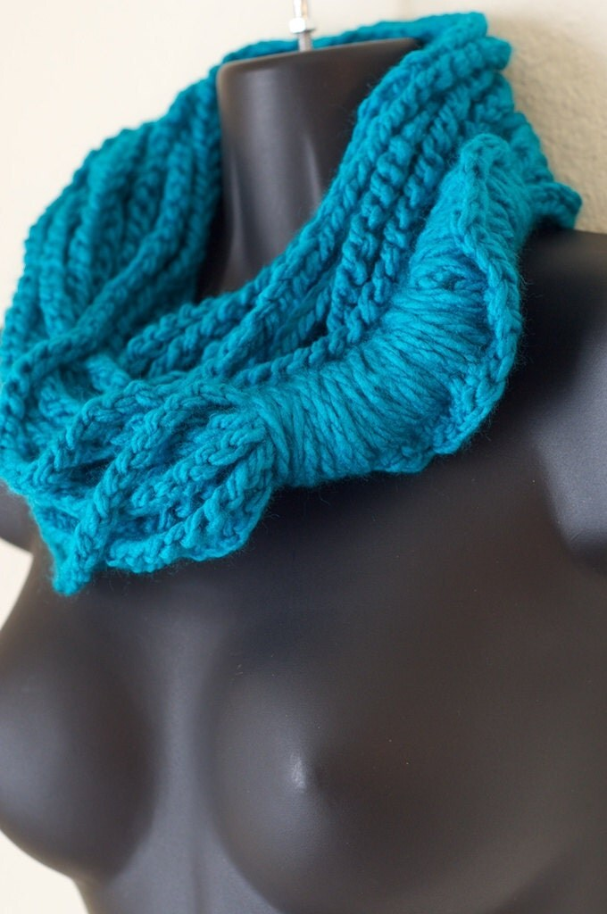 Teal Water Infinity Cowl Lotus Lupe Scarf