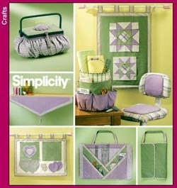 Simplicity Craft Pattern 5932 - Quilting/Sewing Room Accessories - Crafts