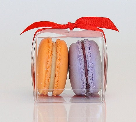 Custom Wedding Favor Boxes - Two French Macarons
