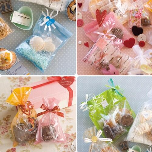 12ea Opp Dot Gift Bags (Set of 4sizes bag)