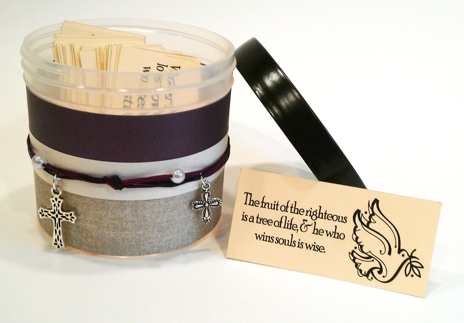 """Christian Hostess Gift - Includes 90 Scripture Cards - """"Plumb Charmed"""" sweet home treasures"""
